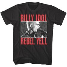Billy Idol Rebel Yell Men's T Shirt Album Cover Punk Rock Singer Live Concert