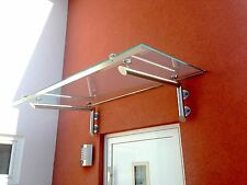 "Edelstahl Glas Vordach""Las Vegas""Vordächer inkl Glas  13,52mm"