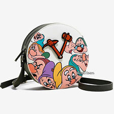 Danielle Nicole & Disney Snow White & Seven Dwarfs Clock Crossbody Purse Bag NEW