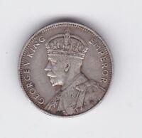 1934 Mauritius 1/4 Quarter Rupee Silver Coin C-389