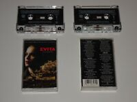 EVITA MADONNA COMPLETE MOTION PICTURE MUSIC SOUNDTRACK 2 CASSETTE TAPE SET RARE