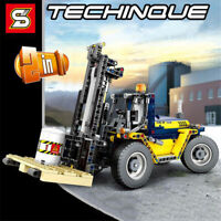 609 pcs Building Blocks Set Toys Bricks Forklift Engineering Vehicle Model