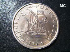 1984 Portugal Sailing Ship 5 Escudos in Extremely Fine grade -