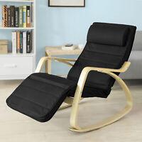 SoBuy® Rocking Chair, Fauteuil à bascule,Fauteuil berçante,Chaise FST16-SCH FR