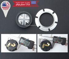 Black Union Jack UK Flag Horn Button MOMO SPARCO GRANT QUANTIES Steering Wheel