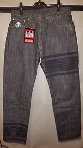 MASTERMIND JAPAN Size L One Wash Dual Waist Feature Straight Denim Jeans US 34