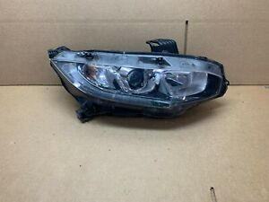 OEM 2016 2017 2018 HONDA CIVIC HALOGEN HEADLIGHT RIGHT SIDE RH NICE!