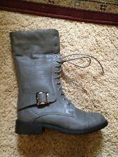 NIB Grey Combat Boots 7