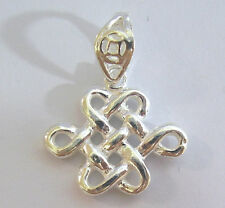 Mystic Knot Fengshui Charm 925 Sterling Silver Pendant Luck Mystical Alluring