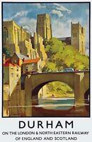 TX279 Vintage Durham England LNER Railway Travel Poster Re-Print A2/A3/A4