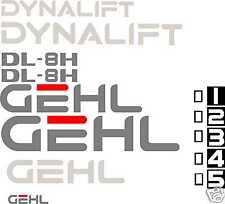 GEHL DL-8H Forklift - Decal Graphics Kit