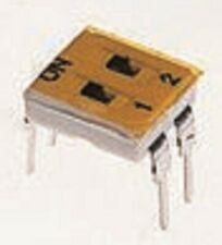 Apem DIP SWITCHES 5Pcs 100mA 2Way Through Hole,Slide,Gold Plate Beryllium Copper