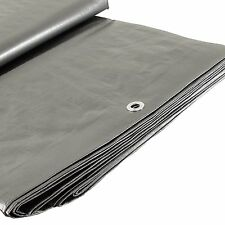 Heavy Duty Silver Covering Tarp, Canopy Extra Large, Boat Cover, RV Choose Size