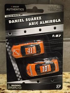 2019 Wave 5 Daniel Suarez/Aric Almirola Tony Stewart Throwbacks 1/87 Authentics