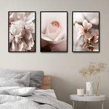 Flowers Nature Print Poster Set Deco Picture Frame Design Wall Gallery Peonie 3 ...