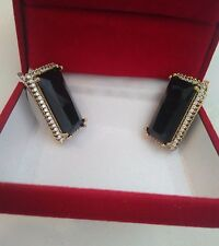 High Quality Turkish Handcraft Jewelry 925 Silver Black Onyx  Ladie's Earrings