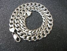 MENS HEAVYWEIGHT STERLING SILVER HALLMARKED CURB LINKED NECK CHAIN..B'HAM.95.6g.