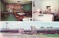"Vicksburg MS ""Magnolia Motor Hotel""  Postcard Mississippi *FREE US SHIPPING*"