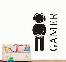 Gamer Gaming Vinyl Wall Art Sticker Decal Boys Girls Teenagers Bedroom Game Room