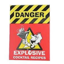 Explosive COCKTAIL RECIPES - Kitchen Bar Party Man Cave Pool Room Gift