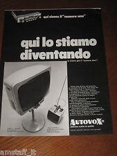 AB20=1968=AUTOVOX STEREO HI FI TV TELEVISORE=PUBBLICITA'=ADVERTISING=WERBUNG=