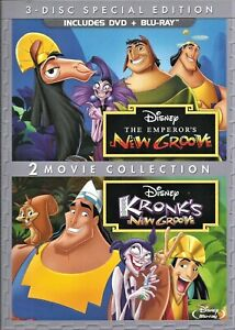 Disney The Emperor's New Groove & Kronks New Groove (3-Disc DVDs+Blu-Ray)
