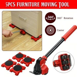 Furniture Mover Tool Set Transport Lifter Heavy Stuff Moving Wheel Roller 5 in 1