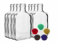 GLASS Bottles 10-80 100ml or 200ml - Choice Color Screw Caps Fast Free P&P UK