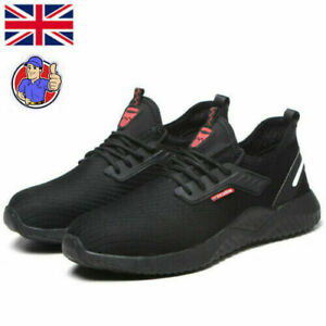 PPE MENS ULTRA LIGHTWEIGHT STEEL TOE CAP SAFETY WORK SHOES TRAINERS SIZE3-13 UK