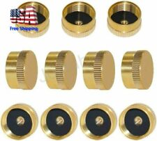 11pcs Solid Brass Refill 1 Lb Propane Bottle Cap Gas Tank Cylinder Protect