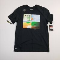 NEW Nike Dri Fit Adult Basketball Short Sleeve Athletic Tee Shirt Mens Large A5*