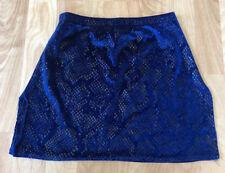 Lot of 29 Blue Velvet Skirt w/ black snake skin Dance Costumes Small S M L XL
