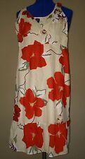 GAP SIZE 0 TAN RED FLORAL FLOWER BUTTERFLY TANK BOHO CHIC WOMEN'S DRESS RET $68