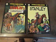 L'histoire en BD, Stanley, lot des tomes N°16 et 17, Dupuis, eo