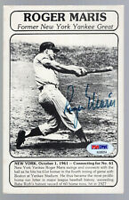 ROGER MARIS SIGNED AUTOGRAPHED AUTO POSTCARD PSA/DNA **NEW YORK YANKEES**