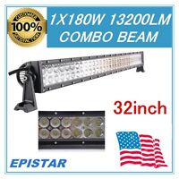 32''inch 180W LED Light Bar S&F Combo Beam Driving Fog Vehicle Roof Truck Boat