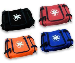 """First Aid Responder EMS Emergency Medical Trauma Bag EMT 10.5""""x5""""x8 Fire Fighter"""