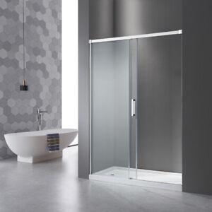 Nischen Schiebetür Duschkabine 100cm(95-100),Duschwand Duschabtrennung  Echtglas