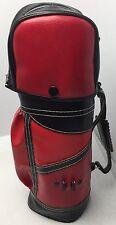 Vintage Red & Black Mini Golf Club Bag Bar Cocktail Golfer Man Cave Hong Kong