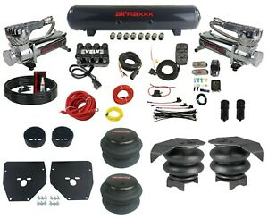 """Complete Air Ride Suspension Kit 3/8"""" EVOLVE Manifold Bags & Tank For 73-87 C10"""