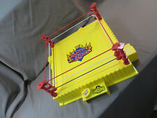 RARE WWF HASBRO YELLOW KING OF THE RING WRESTLING RING #2 GOOD SHAPE