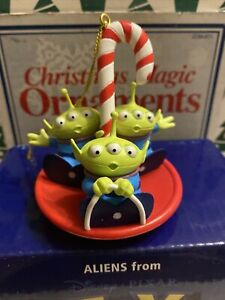 Aliens From Toy Story Disney Grolier Christmas Pres EDT Ornament New In Box COA