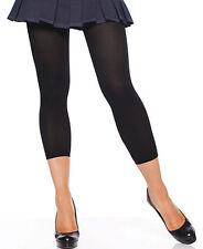 Leg Avenue costume nylon 80s stockings black opaque footless tights 7876