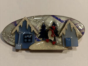 Vintage House Pins By Lucinda Christmas Penguin Brooch