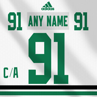 Dallas Stars Adidas  White Jersey Custom Any Name Any Number Pro Lettering Kit
