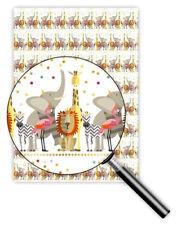 *QUIRE*Exclusives*Geschenkpapier 50 x 70cm*Tiere*Löwe,Elefant,Giraffe&Co*