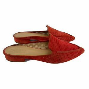 Franco Sarto Women's Sela 3 Mule Red Size 7 Suede