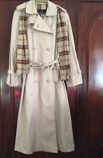 Ladies Size 10 Beige Duster Coat/ Mac