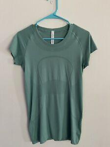 lululemon swiftly tech short sleeve 8 green