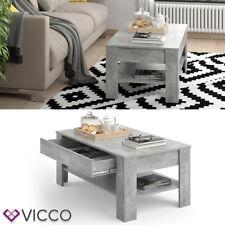 VICCO Couchtisch 110 x 65 cm Beton - Beistelltisch Sofatisch Kaffeetisch